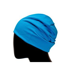 Шапка двухсторонняя голубая