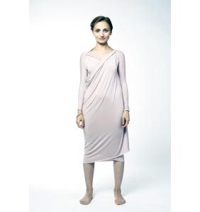 Розовое платье из трикотажа
