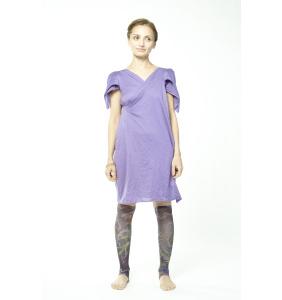 Лиловое платье из трикотажа
