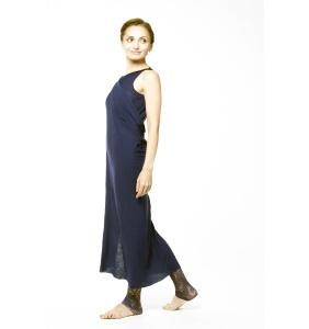 Платье из трикотажа синее