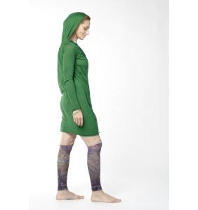 Зелёное платье из трикотажа